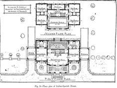 Norelli Mansion, Italian-Spanish house floorplan