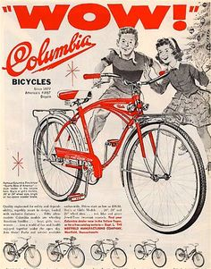 Vintage Columbia Bicycle Christmas Ad