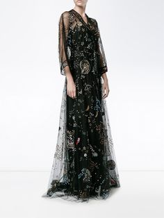 Shop Valentino 'Astro Couture' evening dress from our Evening Dresses collection. Designer Evening Gowns, Designer Dresses, Evening Dresses, Prom Dresses, Haute Couture Style, High Fashion Dresses, Fashion Outfits, Beautiful Gowns, Beautiful Outfits