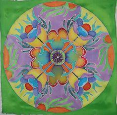 Mandala - Painting with silk dye