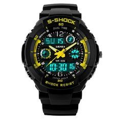 Mens Military Watch For Men Sport Watch SKMEI Luxury LED Digital Outdoor Waterproof Watches S-Shock - watches, omega, mvmt, pocket, hublot, women watch *ad