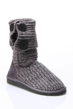 Knit gray boots