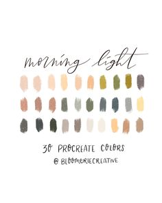 Excited to share this item from my shop: Morning light / autumn / sunrise / Fall colors / color palette / Procreate swatches Color Palette For Home, Color Palate, Neutral Colour Palette, Autumn Color Palette, Earth Colour Palette, Earth Tone Colors, Earth Tones, Aesthetic Colors, Color Swatches