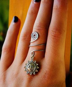 sun wire wrap ring.