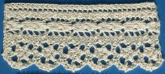 1884 Knitted Lace Sample Book: 20. Parisian Lace