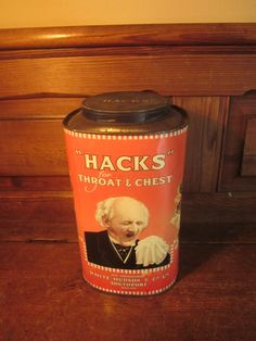 vintage hacks tin for throat and chest white by AmuletCollections