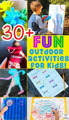 30 + Fun MUST DO Outdoor Activities For Kids! Things to do outside, Outdoor Activities, Summer Games, Summer Activities