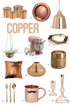 Copper for fall! Love these copper accessories.