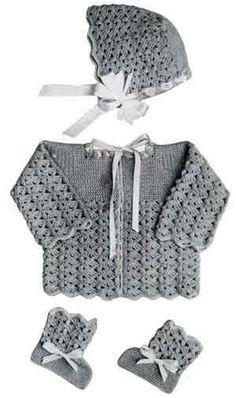 Baby Sweater Set free crochet pattern