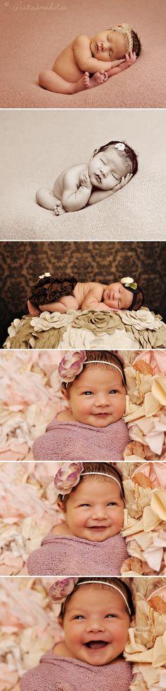 i like the ruffley/flowery cloth of the bottom photos