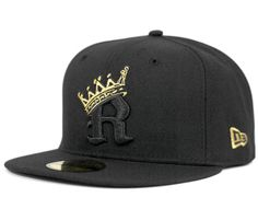 Black Gold R Crown 59Fifty Fitted Cap by LOWERS x NEW ERA