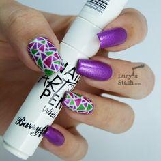 Lucys Stash - UV glowing nail art with Illamasqua Paranormal polishes