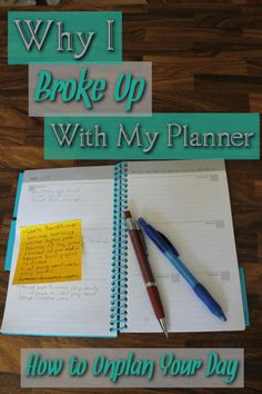 Do you have a love-hate relationship with your planner? You might need to break up with it! Learn how to Unplan your life and see how it can benefit you and increase your productivity.