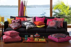 Edition 24 KAS Orange and Red Cushions Red Cushions, Spring Sale, Spring Colors, Soft Furnishings, Outdoor Furniture, Outdoor Decor, Home Textile, Cover Photos, Sweet Home