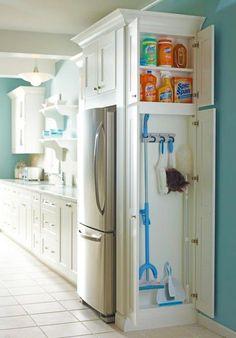 Great hidden storage solution in the kitchen!