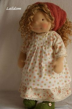 Lisa - Waldorf inspired doll, 19 inch,OOAK,natural materials, cloth doll, child friendly, soft doll