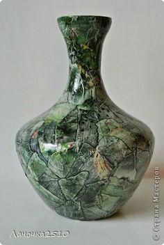Декор предметов Аппликация Декупаж ваз много не бывает  Салфетки фото 1