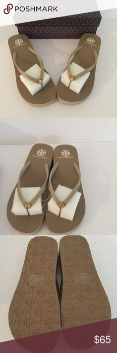 Tory Burch Platform Flip Flops Gold colored brand new with tags. Tory Burch Shoes Sandals