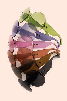 Round Shapes, 60s bright translucent scales. Emporio Armani 30 years Anniversary Sunglasses