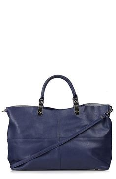 LOVE! Awesome faux leather tote by Topshop. Wonderful price, too!