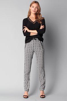 camaieu pantalon femme fluide et imprim pantalon fluide pinterest imprim pantalons et. Black Bedroom Furniture Sets. Home Design Ideas