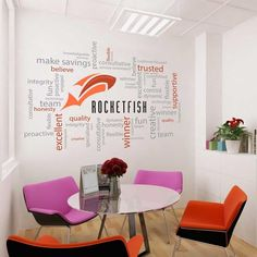 Charmant Logo Word Cluster. Logo Word Cluster In Office By Vinyl Impression.  Lovelace · NEW OFFICE WALL ART IDEAS