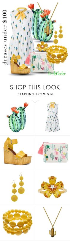"""Cactus Flower...by fowlerteetee"" by fowlerteetee ❤ liked on Polyvore featuring ALDO, Accessorize, Kenneth Jay Lane, David Tutera and Lee Renee"