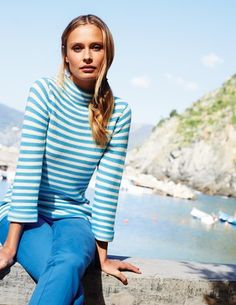 love this outfit too with the light blue flat slingbacks.  I've spotted this @BodenClothing Sophia Sweater