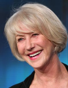 Blonde to mask gray. Photos of Gorgeous Gray Hairstyles: Helen Mirren Goes Blonde to Mask Her Gray Hair