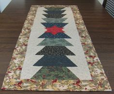 Reversible Christmas Tree Table Runner with Red by QuiltingGranny