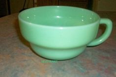 Extremely Rare Jadeite Fire king Soup Bowl Cup (saucer missing)