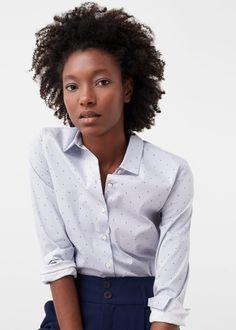Camisa lunares - Camisas de Mujer | MANGO España