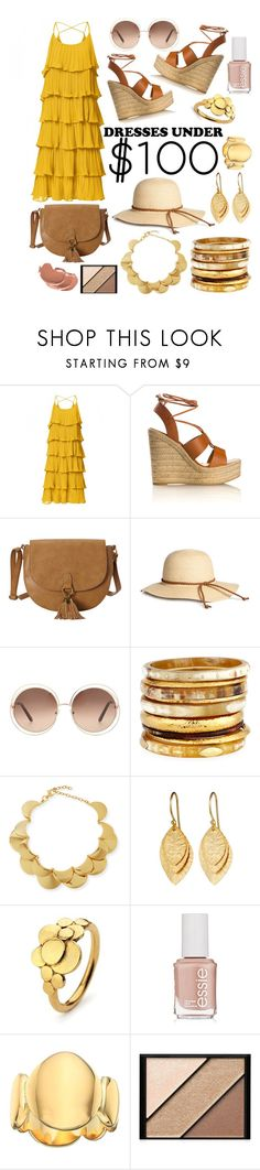"""Untitled #49"" by cottoncrown ❤ liked on Polyvore featuring Yves Saint Laurent, T-shirt & Jeans, Chloé, Ashley Pittman, Lele Sadoughi, Pernille Corydon, Essie, Elizabeth and James and Elizabeth Arden"