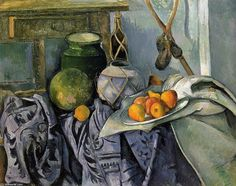 Paul Cezanne - Nature morte avec un pot de gingembre et des aubergines