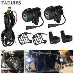 Universal Motorcycle LED Auxiliary Fog Light Assemblie Driving Lamp 40W Headlight For BMW R1200GS/ADV/F800GS/F700GS/F650FS/ on Aliexpress.com | Alibaba Group