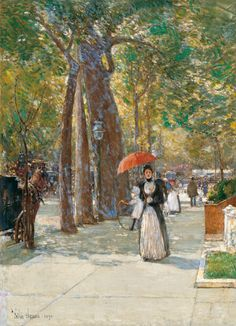 Frederick Childe Hassam (American, 1859-1935)  Fifth Avenue at Washington Square, New York