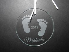 Personalized Baby's First Christmas Ornament by MaggiesCraftTime. Perfect gift for that new mom on your Christmas list! Click on the picture for more info. $11.00