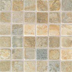 China Gold Mosaic - Tumbled Slate Collection by American Olean