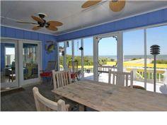 Screened in porch and deck to enjoy the ocean breezes. #oceanfront #follybeach 1007 W Ashley Ave  Dunes Properties www.dunesproperties.com