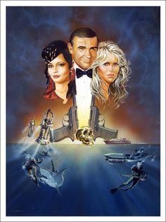 Rudy Obrero Never say never again, 1983 James Bond Movie Posters, James Bond Movies, Cinema Posters, Sean Connery James Bond, Daniel Craig James Bond, Movie Collage, George Lazenby, Timothy Dalton, Star Wars