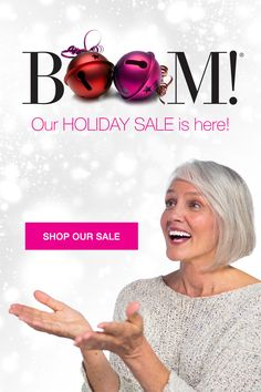 Our holiday sale is here! Celebrate the women in your life this season! Add some BOOM to their holidays with 10% OFF our entire store!