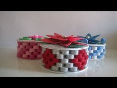Reciclando cd com E V A! Montagem da Caixinha. - YouTube Cd Crafts, Paper Quilling, Quilling Ideas, General Crafts, Craft Activities, Creative Art, Kids Playing, Paper Art, Projects To Try