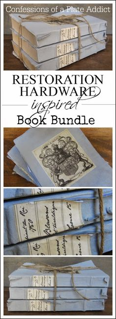 CONFESSIONS OF A PLATE ADDICT: Restoration Hardware Inspired Vintage Book Bundle