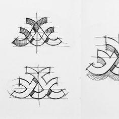 Logo design process by george_bokhua Logo Design Tips, Logo Design Inspiration, Icon Design, Logo Process, Design Process, Corporate Identity Design, Branding Design, Logo Sketches, Book Logo