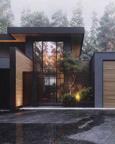 Architecture House Design The Best Dream House Exterior Ideas - House Topics Modern Exterior, Exterior Design, Black Exterior, Interior Modern, Dream House Exterior, Facade House, Modern House Design, Modern House Exteriors, Modern Fence Design