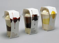 waitrose sundae - The Nelson Associates were commissioned to design a packaging for the dessert company Waitrose Sundae that reflected its brand image. Ice Cream Packaging, Dessert Packaging, Bakery Packaging, Cool Packaging, Food Packaging Design, Coffee Packaging, Packaging Design Inspiration, Brand Packaging, Plastic Packaging