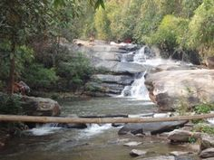 Our first waterfall and swimming opportunity