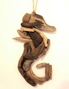 Driftwood Seahorse / Driftwood Art Wall by DinkyDrewDesigns, £15.00