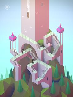 Monument Valley 2 is an illusory adventure of impossible architecture and forgiveness by ustwo games Isometric Art, Isometric Design, Game Concept, Concept Art, Illustrations, Illustration Art, Escher Drawings, Game Design, Design Art