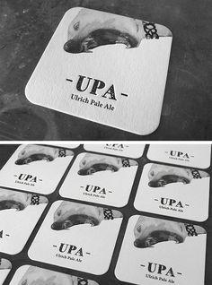 Bierdeckel für feines Pale Ale. Pale, Letterpress, Beer Coasters, Invitations, Cards, Nice Asses, Letterpress Printing, Letterpresses
